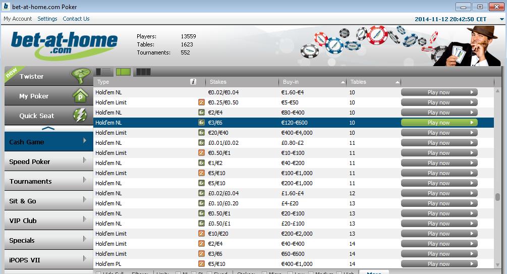 Bets-at-home - покер на деньги