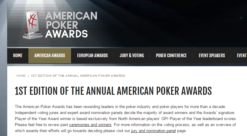 GPI American Poker Awards